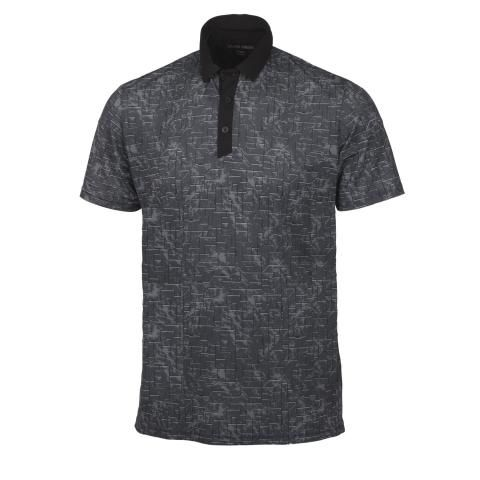 Galvin Green Morris Ventil8 Plus Polo Shirt Black/Sharkskin