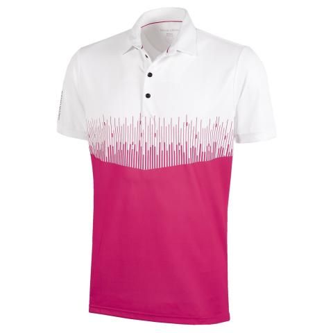 Galvin Green Moss Ventil8 Plus Polo Shirt White/Barberry