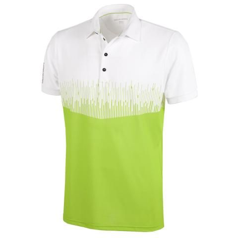 Galvin Green Moss Ventil8 Plus Polo Shirt White/Lime