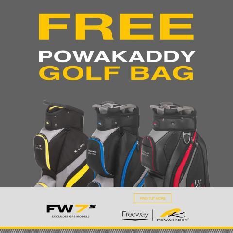 PowaKaddy 2019 FW7s Electric Golf Trolley plus Free Golf Bag