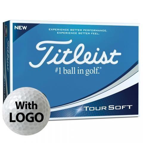 Titleist Tour Soft Logo Golf Balls White with Logo / Minimum 12 Dozen