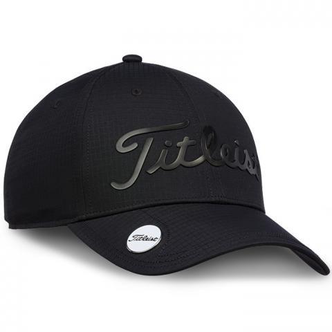 Titleist Performance Ball Marker Adjustable Golf Cap Black/Black
