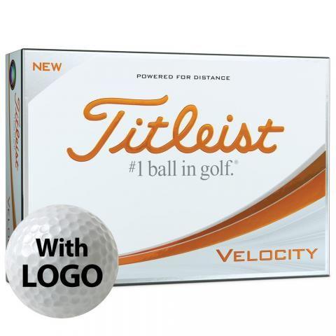 Titleist Velocity Logo Golf Balls White with Logo / Minimum 12 Dozen