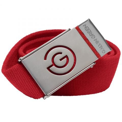 Galvin Green Warren Nylon Stretch Belt Red