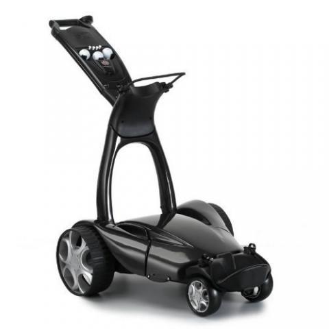 Stewart X9 Follow Electric Golf Trolley Metallic Black / Lithium Battery