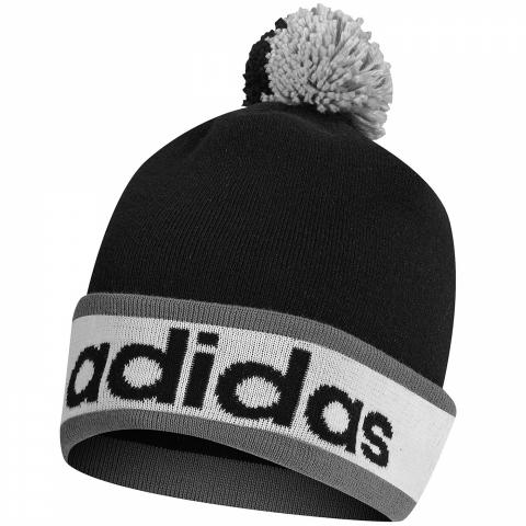 893a6a8f7c3 adidas Climaheat PomPom Winter Beanie Hat Black White Vista Grey