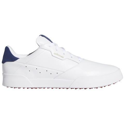 adidas Adicross Retro Golf Shoes White/Silver Metallic/Indigo