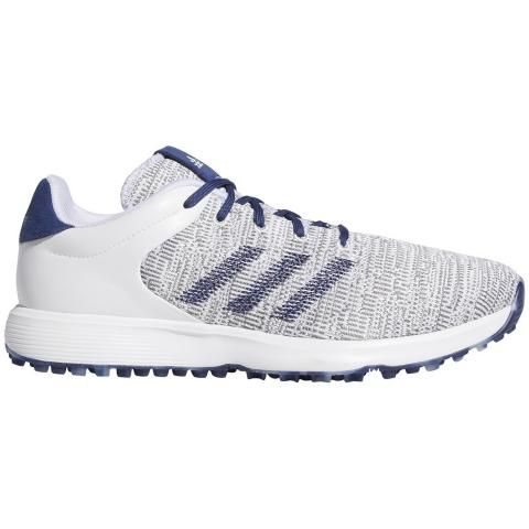 adidas S2G Golf Shoes White/Tech Indigo/Grey Three