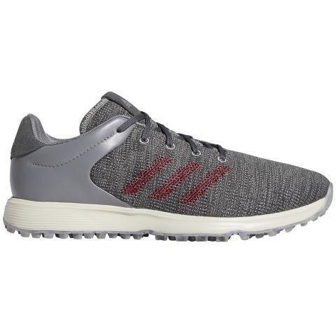 adidas S2G Golf Shoes Grey Three/Collegiate Burgundy/Grey Six