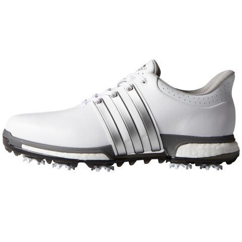 adidas tour360 impulso scarpe da golf bianca / argento metallico / buio d'argento