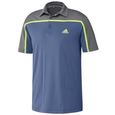 adidas Ultimate 365 3-Stripes Polo Shirt Trace Royal/Grey Five Melange