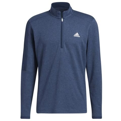 adidas 3-Stripes 1/4 Zip Golf Sweater Crew Navy Melange