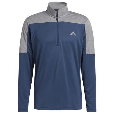 adidas 1/4 Zip Lightweight UPF Golf Sweater Crew Navy