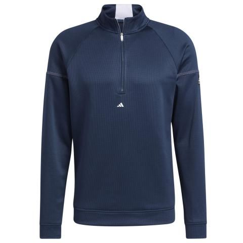 adidas Equipment 1/4 Zip Golf Sweater Crew Navy/White