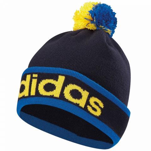 7fffcb1a6a9 adidas Climaheat PomPom Winter Beanie Hat Navy Bright Royal Yellow ...