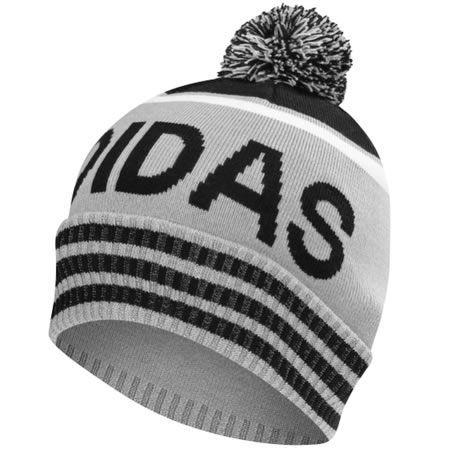 331f2c4b4f1 adidas PomPom Winter Beanie Hat Mid Grey Black
