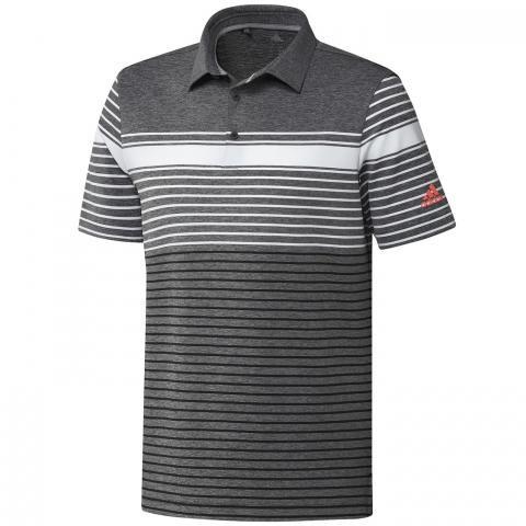 adidas Ultimate 365 Engineered Polo Shirt White/Black/Black Melange