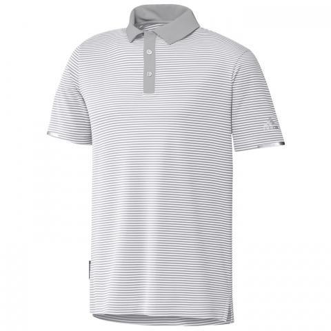 adidas HEAT.RDY Stripe Polo Shirt White/Grey One
