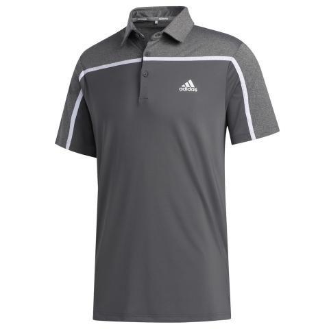 adidas Ultimate 365 3-Stripes Polo Shirt Grey Five/Black Melange