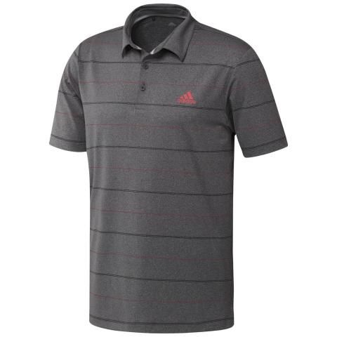 adidas Ultimate 365 Heathered Stripe Polo Shirt