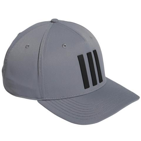 adidas Tour 3-Stripes Baseball Cap Grey Three