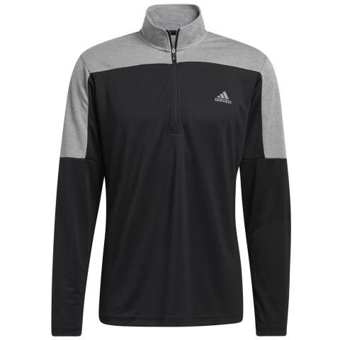 adidas 1/4 Zip Lightweight UPF Golf Sweater Black