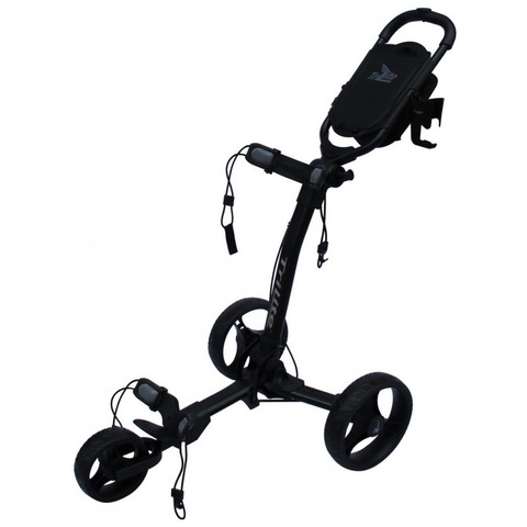Axglo TriLite 3-Wheel Push Golf Trolley Black/Black + 2 Free Accessories