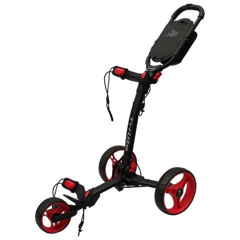 Axglo TriLite 3-Wheel Push Golf Trolley Black/Red + 2 Free Accessories