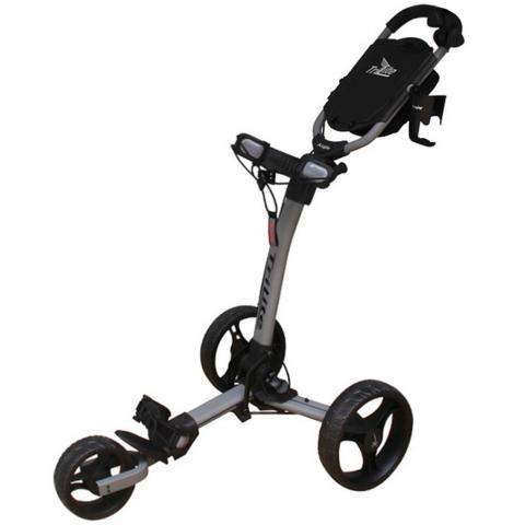 Axglo TriLite 3-Wheel Push Golf Trolley Matte Grey/Black + 2 Free Accessories