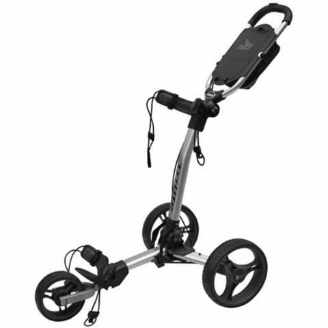 Axglo TriLite 3-Wheel Push Golf Trolley Silver/Black + 2 Free Accessories