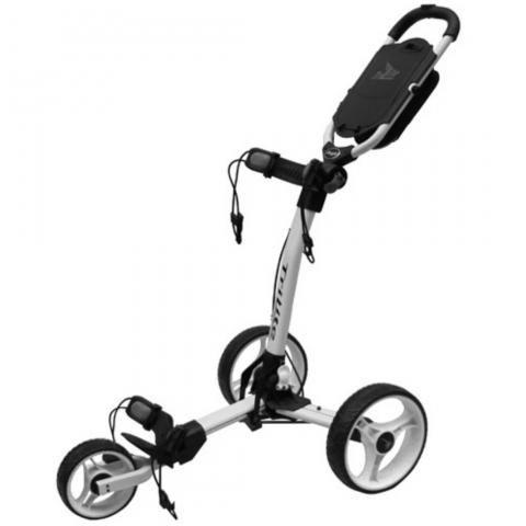 Axglo TriLite 3-Wheel Push Golf Trolley White/White + 2 Free Accessories