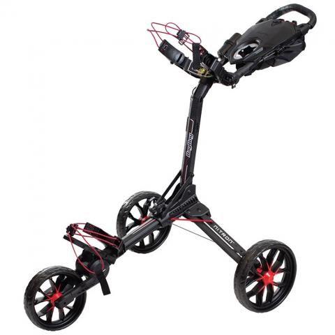 BagBoy Nitron Auto-Open Push Golf Cart Black/Red