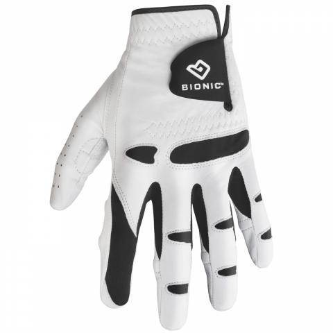Bionic Stable Grip Golf Glove Right or Left Handed Golfer / White