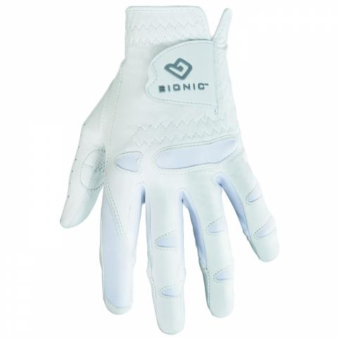 Bionic Stable Grip Ladies Golf Glove Right or Left Handed Golfer / White