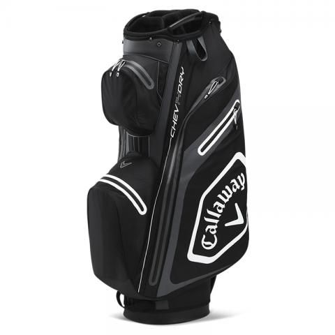 Callaway 2021 Chev Dry 14 Waterproof Golf Cart Bag Black/White/Charcoal