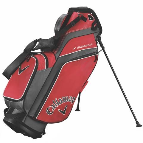 Callaway X Series Golf Stand Bag Red/Titanium/White