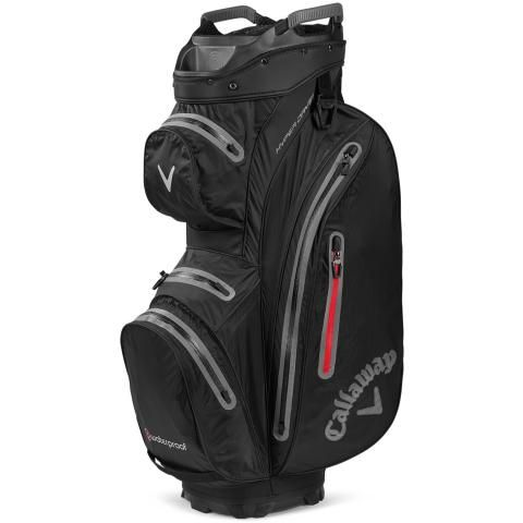 Callaway Hyper Dry 15 Waterproof Golf Cart Bag Black/Charcoal/Red