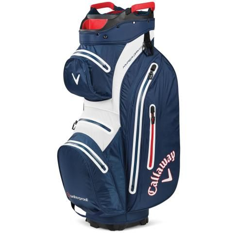 Callaway Hyper Dry 15 Waterproof Golf Cart Bag Navy/White/Red