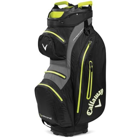 Callaway Hyper Dry 15 Waterproof Golf Cart Bag Black/Charcoal/Yellow
