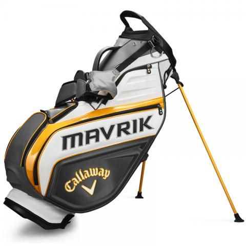 Callaway Mavrik Staff Golf Stand Bag Charcoal/White/Orange