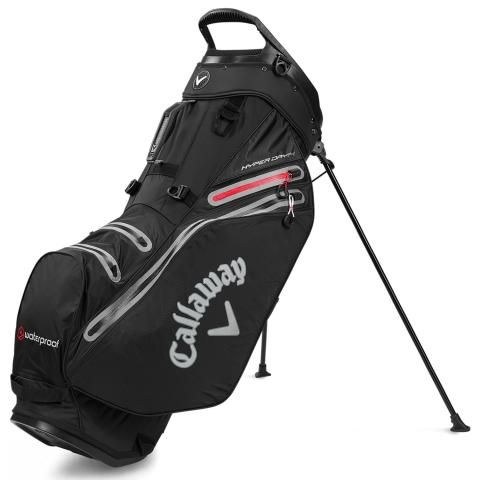 Callaway Hyper Dry 14 Waterproof Golf Stand Bag Black/Charcoal/Red