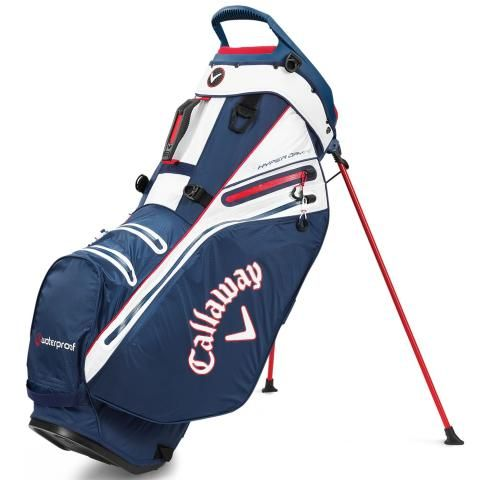 Callaway Hyper Dry 14 Waterproof Golf Stand Bag Navy/White