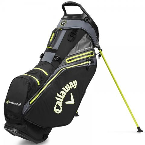 Callaway Hyper Dry 14 Waterproof Golf Stand Bag Black/Charcoal/Yellow