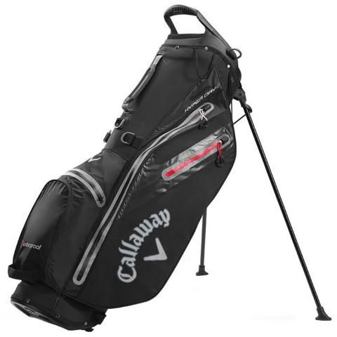 Callaway Hyper Dry C Waterproof Golf Stand Bag Black/Charcoal/Red