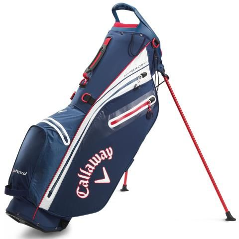 Callaway Hyper Dry C Waterproof Golf Stand Bag Navy/White/Red