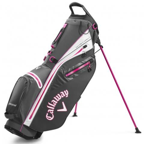 Callaway Hyper Dry C Waterproof Golf Stand Bag Charcoal/Pink