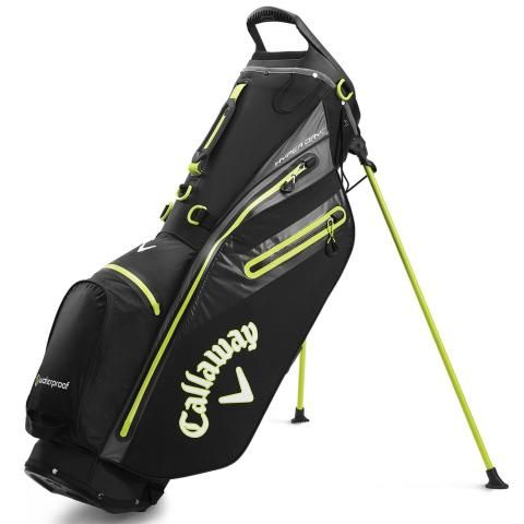 Callaway Hyper Dry C Waterproof Golf Stand Bag Black/Charcoal/Yellow