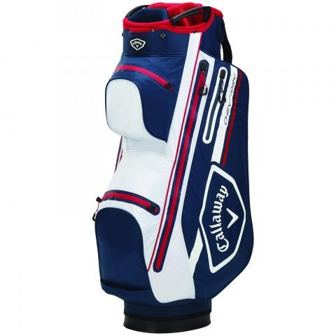 Callaway 2021 Chev Dry 14 Waterproof Golf Cart Bag Navy/Red/White