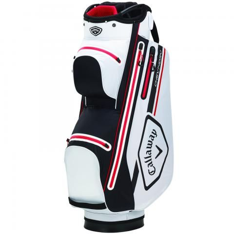 Callaway 2021 Chev Dry 14 Waterproof Golf Cart Bag White/Black/Red
