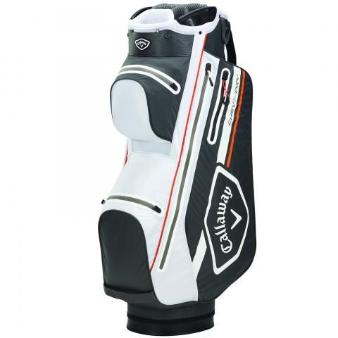 Callaway 2021 Chev Dry 14 Waterproof Golf Cart Bag Charcoal/White/Orange
